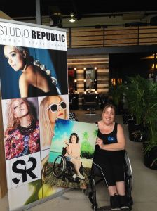 Its me...holding a picture of....me! haha.  At Studio Republic, seeing the print for the first time! :)