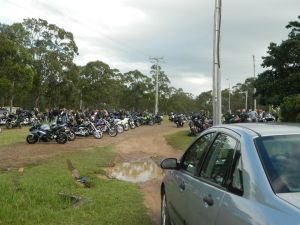 At the starting point - only a small amount of the bikes taking part.. 140+ participants...pure awesome! :D