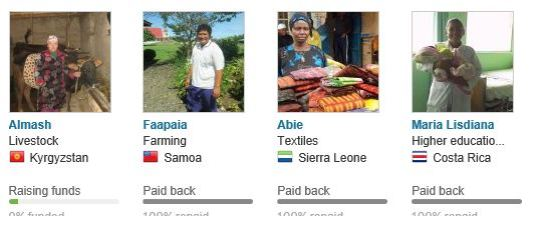 Kiva comes to those in need around the world...