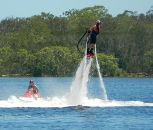 Flying through the air, out of the water...awesome!