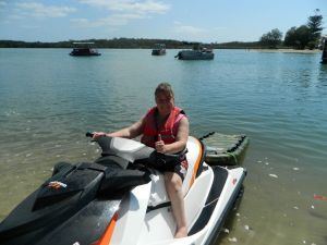 Wow..I am actually on a jetski - Im about to drive this beast, myself...amazing feeling! :D