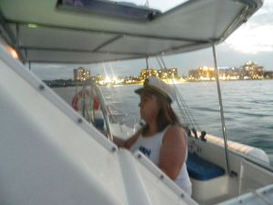 """ALL ABOARD!!!!"" haha... Cap'n Tarns is in charge of this boat..! :) SO much fun!"