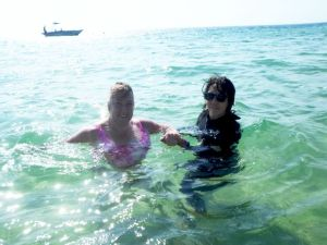 A swim in the waters off the Island that holds a piece of my heart....SO healing