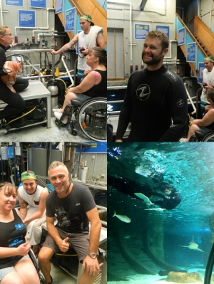 The awesome Team (and Sharks!) at Sealife Mooloolaba!