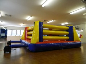 The Bounce House boxing ring - SO much fun!